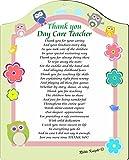 Rikki Knight Thank You Day Care Teacher Poem Plaque, 8x10, Daycare