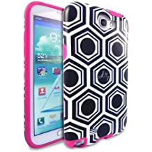 Milly Geometric Print Vibe Case for Galaxy Note II - White/Black