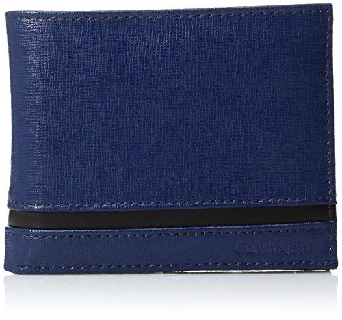 Calvin Klein Men's Passcase and Key Fob, Navy, One Size