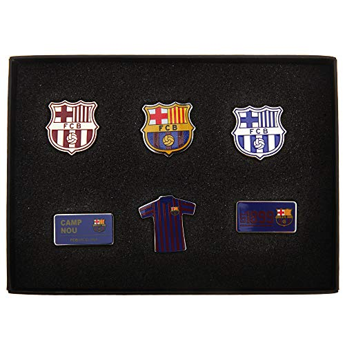 FC Barcelona Official 6 Piece Metal Football Crest Badge Set (One Size) ()
