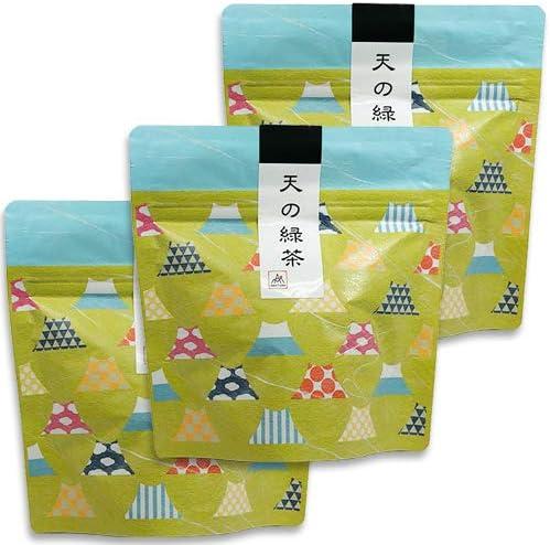天の緑茶 和柄 ティーバッグ (2g×10個)×3袋セット 天の製茶園 無農薬栽培 緑茶