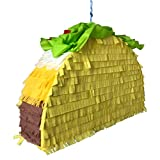 Perfect Piñata - Taco Supreme - 17.5'' x 11.5'' x 4.5'' - 5LB+ Candy Capacity | Easy-Fill, Long Lasting, Stays On Rope | Fiesta, Birthday, Company Party | Hand Made in USA