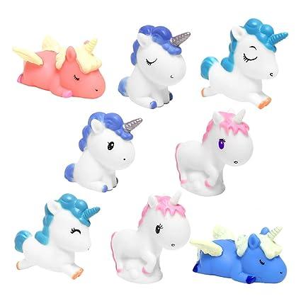 Amazon.com: Figuras de unicornio de unicornio de juguete ...