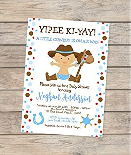 Amazon Com Cowboy Joe Baby Shower Invitations Set Of 20 Baby