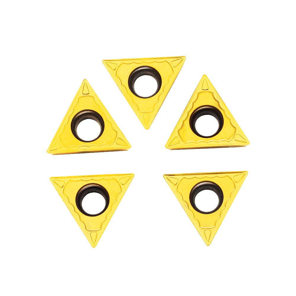 5 Pieces TCMT32.51 OSCARBIDE Carbide Turning Inserts TCMT16T304 ,TCMT Insert CNC Lathe Inserts for Lathe Turning Tool Holder Replacement Insert
