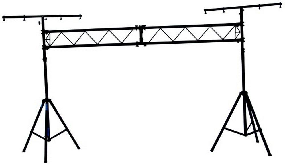 Show Stand II Alu Plus máx. 25 kg, m. 3m Barra LED en T