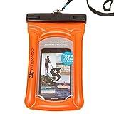 geckobrands Float Phone Dry Bag, Orange, Bright Orange
