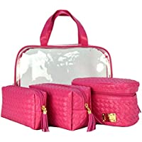 Frasqueiras Necessaire Feminina Luxo Pink Kit 4 Peças CBRN08216