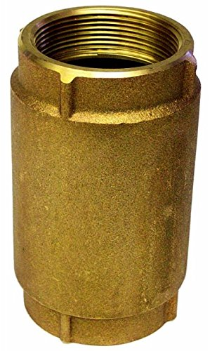 Merrill MFG CVR200 600 Series Brass Check Valve, 2'' Pipe Size, 5'' Total Length, 120 GPM, 5''