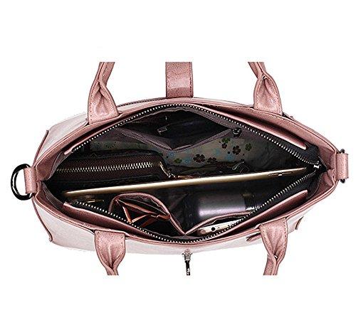 Eysee - Bolso de tela para mujer rosa rosa 30 cm * 24 cm* 13 cm rojo