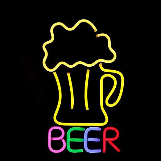 VWBQ Beer LED Neón,Carteles De Resina Cerveza Iluminado ...