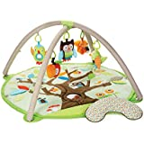 Skip Hop Treetop Friends Baby Play Mat and Infant Activity Gym, Green/Brown