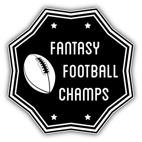 (Fantasy Football Champs Sport Label Vinyl Decal Bumper Sticker 5'' X 5'')