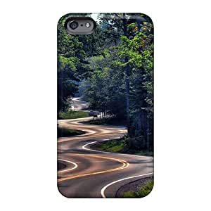 Shock Absorbent Hard Cell-phone Case For Apple Iphone 6s (afW3584Zwap) Allow Personal Design Colorful Winding Road Nature Skin