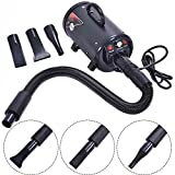 Safstar High Power Dog Cat Pet Grooming Hair Dryer Stepless Adjustable Speed and Temperature
