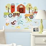 RoomMates RMK1604SCS Happi Barnyard Peel and Stick Wall Decals