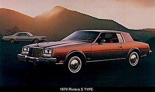 1979 BUICK RIVIERA S TYPE COLOR POSTCARD - FACTORY ORIGINAL - USA - NEW NEVER MAILED !!