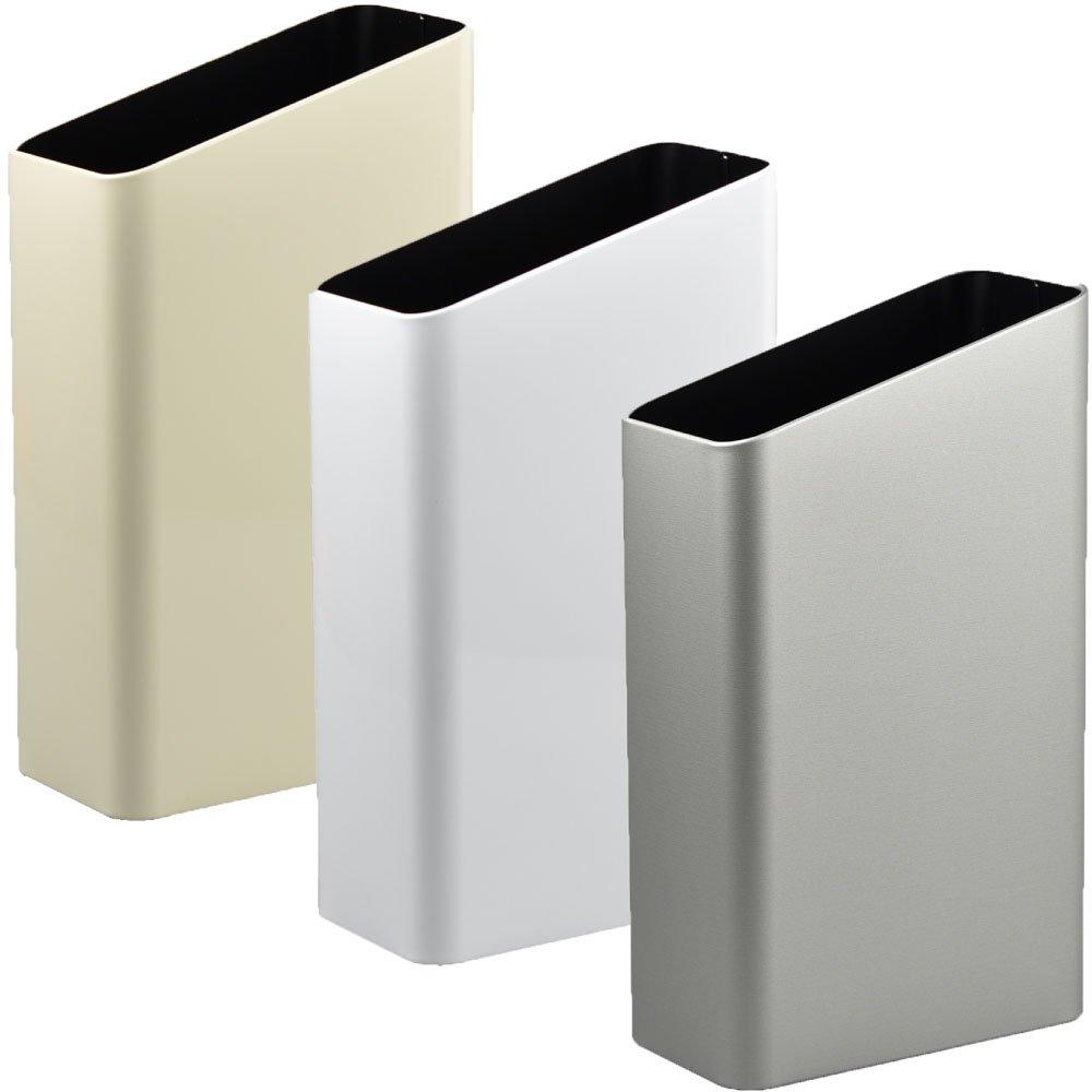 ぶんぶく サイドバケット 大 全9色の中から選べる3個セット ゴミ箱 ごみ箱 ダストボックス おしゃれ 日本製 (アイボリー×ホワイト×シルバーメタリック) B075GLW813 アイボリー×ホワイト×シルバーメタリック アイボリー×ホワイト×シルバーメタリック