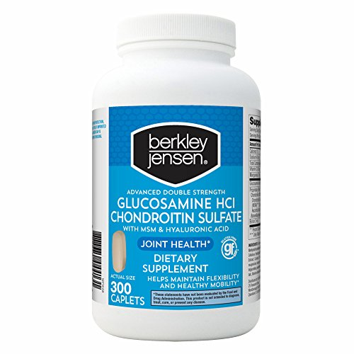 Berkley Jensen Double Strength Glucosamine Chondroitin, 300 ct. (pack of 6) by Berkley and Jensen