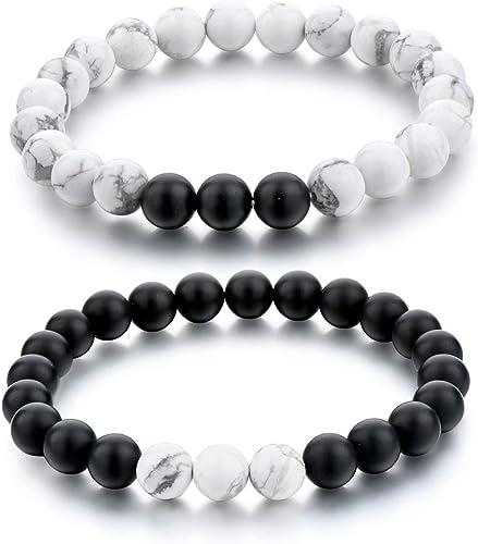 Howlite bracelets,stone bracelets for Men and Women