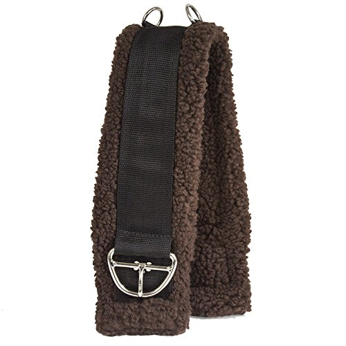[Intrepid International Western Fleece Cinch Girth, Brown, 34-Inch] (Sliding Side Reins)