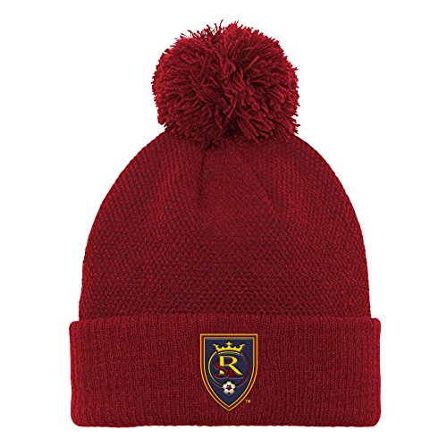 Crimson Pom Pom - Outerstuff MLS Real Salt Lake Boys Cuffed Knit Hat with Pom, Crimson Red, One Size (8)