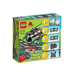 LEGO Duplo 10506 Train Accessory Set Track System - 51xAVNED9NL - LEGO Duplo 10506 Track System Train Accessory Set