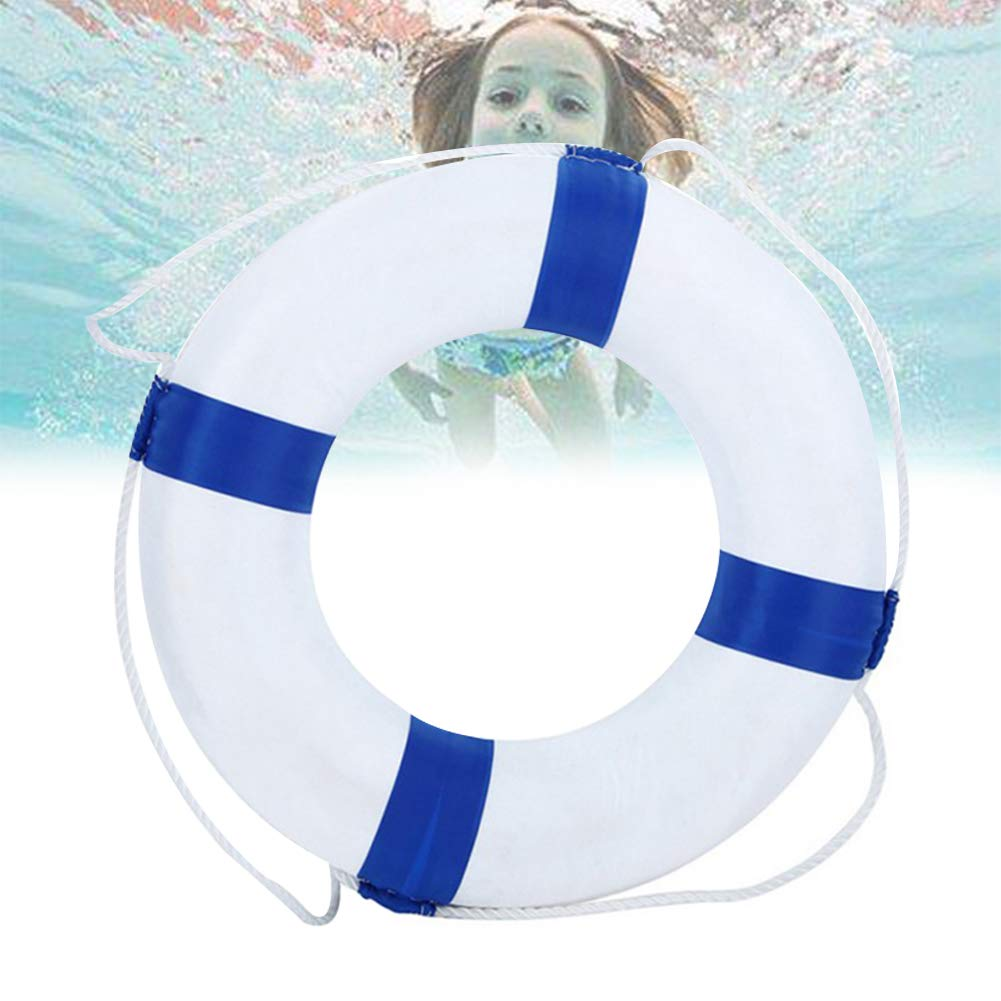 Kriszon 52cm 20.5inch Diameter Welcome Cloth Decorative Life Ring Buoy Home Wall Nautical Decor Safety Life Preserver with Perimeter Rope 1Pack Blue by Kriszon