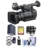 Sony HXR-NX5R NXCAM Professional Camcorder HXR-NX100 Professional Compact Camcorder - Bundle With 32GB U3 SDHC Card, Spare Battery, 72mm Filter Kit, Cleaning Kit, Card Reader, Memory Wallet