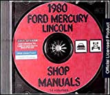 1980 FORD FACTORY REPAIR SHOP & SERVICE MANUAL CD - INCLUDES Ford Fairmont, Fiesta, Pinto, Mustang, Granada, Ford Custom 500, Ford LTD, Ford LTD Landau, Country Squire & Thunderbird 80