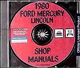 1980 MERCURY REPAIR SHOP & SERVICE MANUAL CD INCLUDES: Bobcat, Capri, Zephyr, Monarch, Versailles, Cougar XR-7, Mercury Marquis, Mercury Marquis Brougham, Grand Marquis, Colony Park, Meteor, convertible, station wagon, sedan and coupe models.