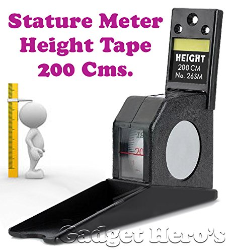 Gadget Hero's Height Measuring Scale Tape (Black)