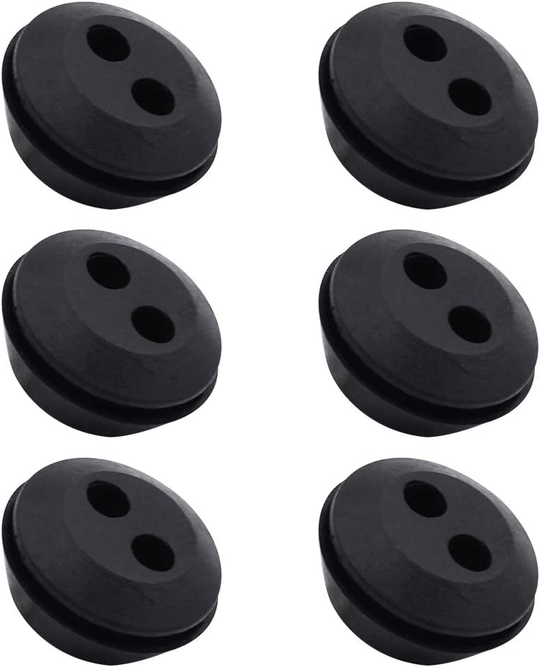 LumenTY – 2 orificios universal de goma junta depósito de gasolina boquilla de goma para cortasetos – 6 unidades