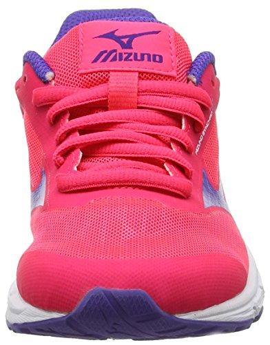 Mizuno Synchro Jr, Zapatillas de Running para Niñas Rosa (Diva Pink/liberty/white)