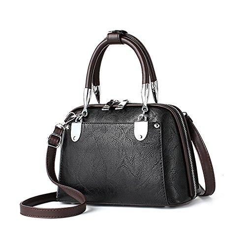 Bolso Bolsa Black Nueva Spanning Señora Gwqgz Bolso Ocio De Solo Retro Chic Moda Negro Sesgar dX76wU6