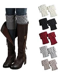 Womens Short Boots Socks Crochet Knitted Boot Cuffs Leg...