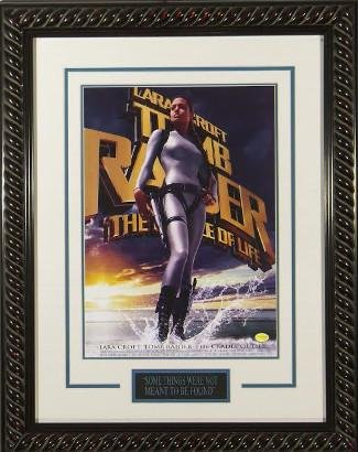 Lara Croft Tomb Raider 22x30 Masterprint Movie Poster Custom Black Rope Framing w/Angelina Jolie