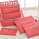 Vmore 6 In 1 Travel Laundry Pouch Cosmetics Makeup Bags Organizer.
