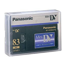 Panasonic AY-DVM83PQ Professional Mini DV Tape 83min (Single Tape)