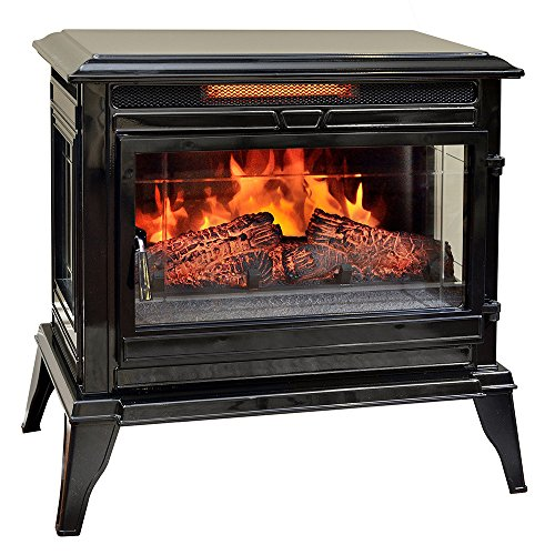Comfort Smart Jackson Infrared Electric Fireplace Stove Heater, Black - ()