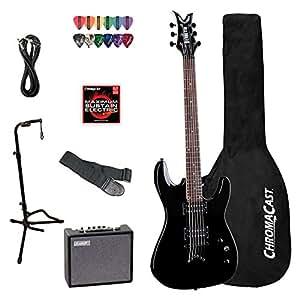 Dean Vendetta Classic Black (VNXM-CBK) Electric Guitar with ChromaCast Accessories