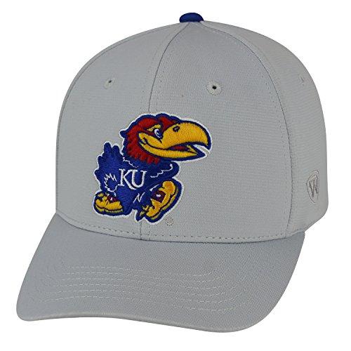 Top of the World Kansas Jayhawks Official NCAA One Fit Impact Hat 057422 - Kansas Jayhawks Gear