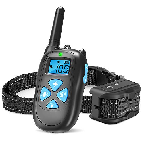 SEALODY Dog Training Collar, 1450ft Remote Dog Shock Collar, 100% Waterproof Rechargeable Beep/Vibra/Electric Shock ()