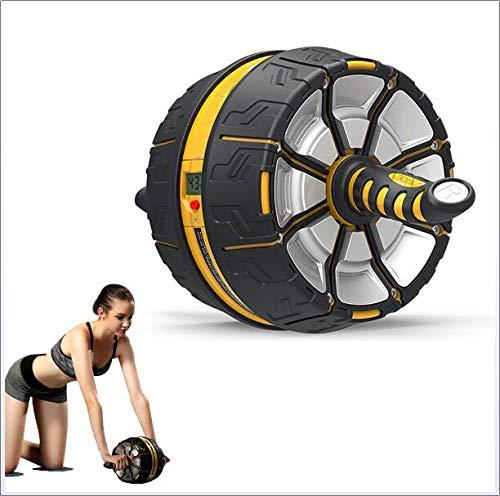 腹筋ローラー 動的腹部ホイール、取り外し可能な滑り止めハンドル、インテリジェントディスプレイ付きサイレント耐摩耗性腹部マシン   B07PN9X43W