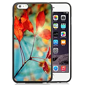 Fashion DIY Custom Designed iPhone 6 Plus 5.5 Inch Phone Case For Red Leaves with Halos Phone Case Cover