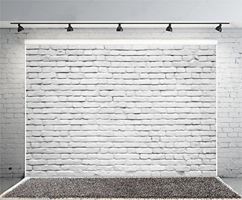 Yeele 10x8ft Retro White Brick Wall Backdrop Vinyl Fabric Vintage Paint Coating Wall Photography Background Party Booth Banner Newborn Adult Portrait Wallpaper Photo Video Shooting Studio Props