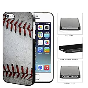 Baseball Red Stitching Close-up Hard Plastic Snap On Cell Phone Case Apple iPhone 5 5s