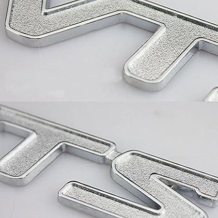 Argent Rouge Dsycar 1 Pcs 3D M/étal VTS Voiture C/ôt/é Fender Arri/ère Coffre Embl/ème Badge Autocollant Stickers pour Universal Cars Moto Car Styling Accessoires D/écoratifs