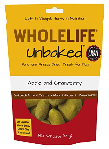 Whole Life Pet Unbaked Treats For Dogs-Healthy Skin & Coat Apple Cranberry Flavor, 2.3-Ounce