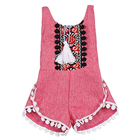 Baby Rompers, LOVELYIVA Baby Girl Sleeveless Sweet Floral Summer Sleeveless Jumpers Rompers Bodysuit Playsuit Outfits - Summer Infant Sweet